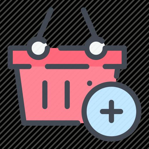 add, basket, cart, ecommerce, new, product, shop icon