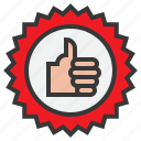 award, badge, like, online, recommended, shopping icon