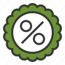 badge, discount, online, percent, shopping icon