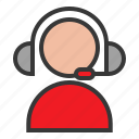 call center, online, operator, shopping icon