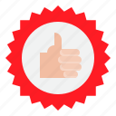 award, badge, business, like, recommended, shopping icon