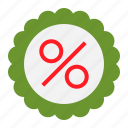 badge, business, discount, online, percent, shopping icon