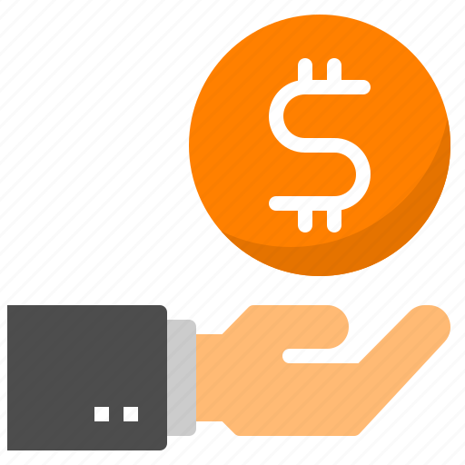 business, buy, cash, hand, money icon