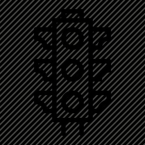 indication, light, management, signal, traffic icon