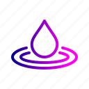 clean, drop, droplet, rain, water icon
