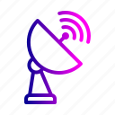 antena, dth, network, radar, randge, satellite, signal icon