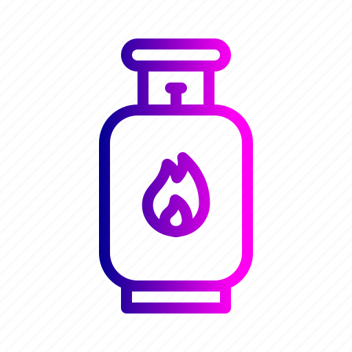 bottle, cng, cylinder, fire, gas icon