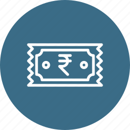 bill, fees, money, receipt, ruppee, stamp, ticket icon
