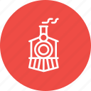 engine, railway, train, transport, travel, vintage icon