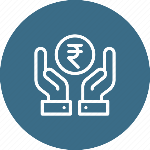 donation, finance, financial, hand, money, savings, service icon