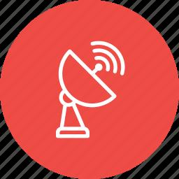 antena, dth, network, radar, randge, satellite, signal icon