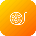 cinema, clip, movie, multimedia, reel icon