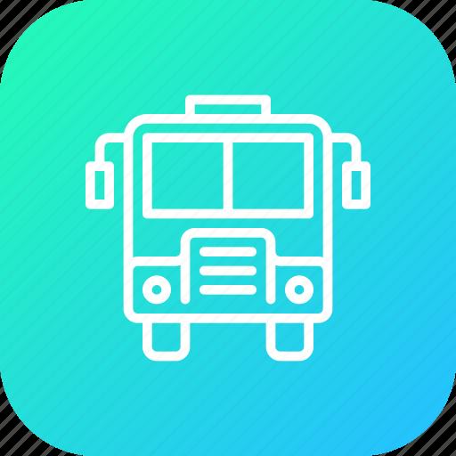 Bus, school, transportation, travel, vehicle icon