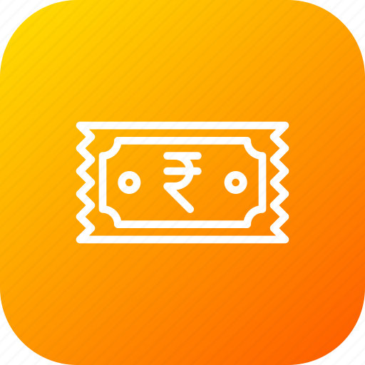 bill, fees, money, prise, receipt, ruppee, ticket icon