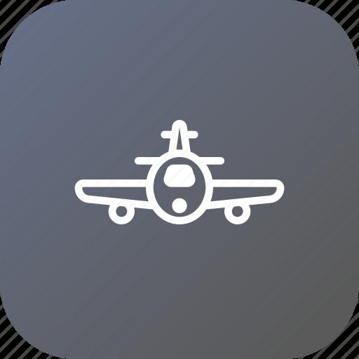 aeroplane, airplane, domestic, flight, international, plane, travel icon