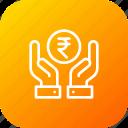 donation, finance, financial, hand, money, savings, service