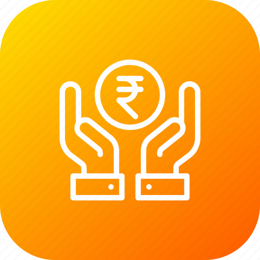 donation, finance, financial, hand, money, savings, service icon