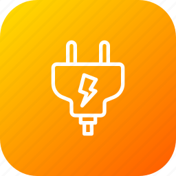current, electric, electricity, energy, plug icon