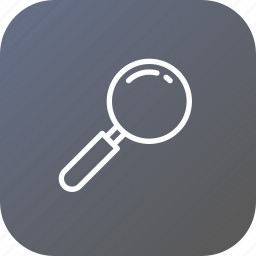 glass, item, magnifier, search icon