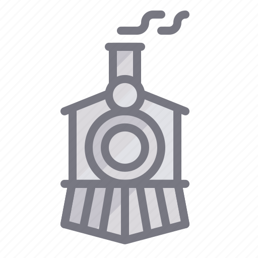 engine, railway, train, transport, travel, vintage icon