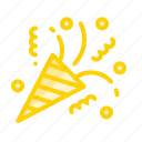 celebration, decoration, event, party, popper icon