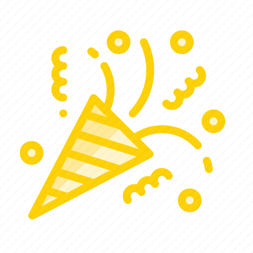 celebration, decoration, event, party, popper icon