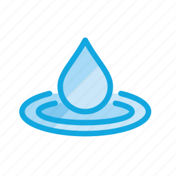 clean, drop, droplet, rain, water icon