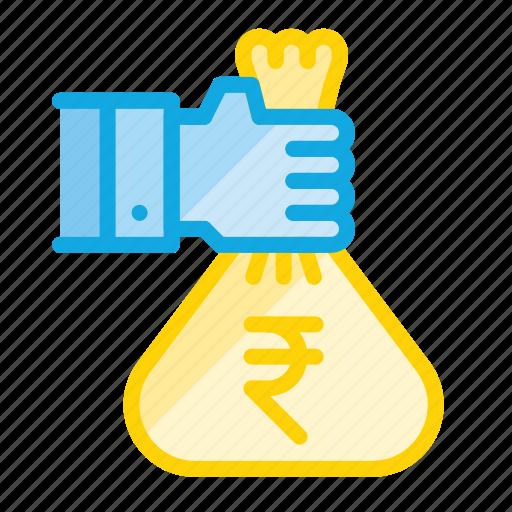 bag, finance, loan, money, profit, savings icon