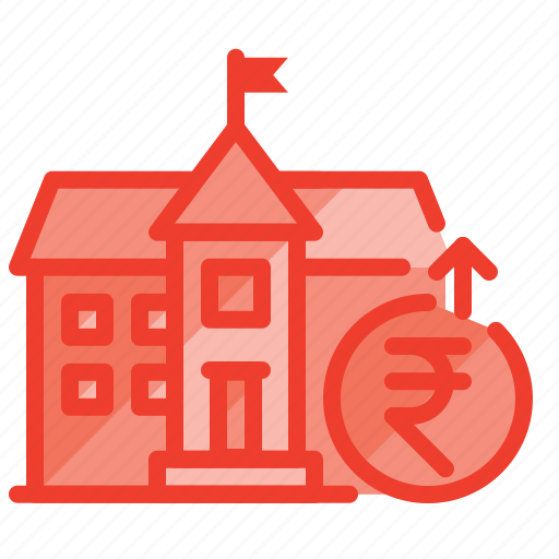bank, building, cash, money, municipal, payment, savings icon