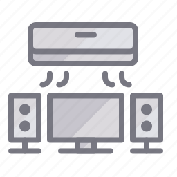 ac, airconditioner, appliances, device, home, television, tv icon