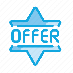 badge, discount, label, offer, offers, shopping, star icon