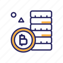 bitcoins, coin, currency, finance, payment icon