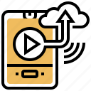 clip, cloud, storage, upload, video