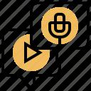 audio, device, recording, sound, voice icon