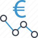 analyze, euro, money, sign icon