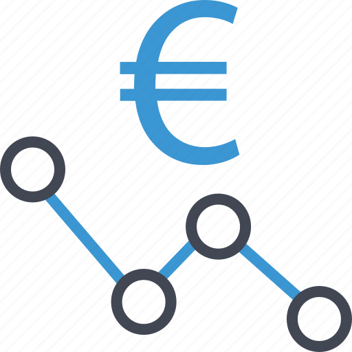 analyze, euro, money, sign icon
