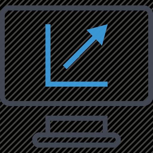 arrow, computer, down, up icon