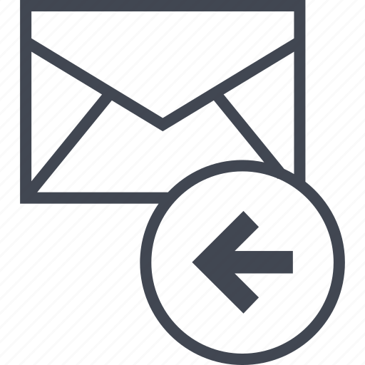 back, email, message icon