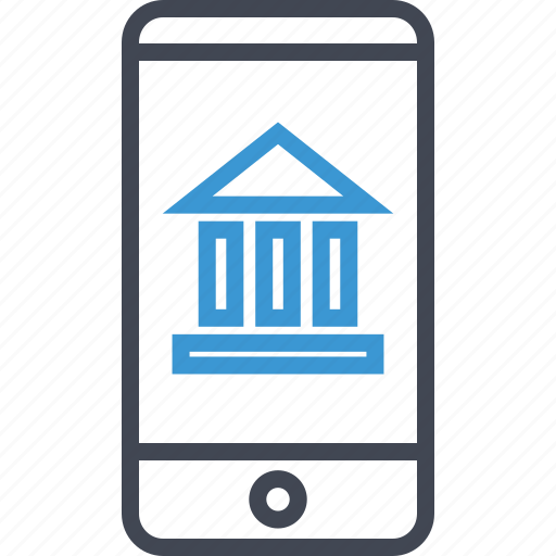 bank, banking, mobile, online icon