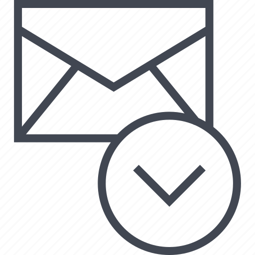 download, email, message icon