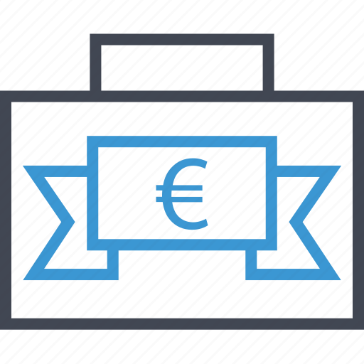 banner, euro, sign icon