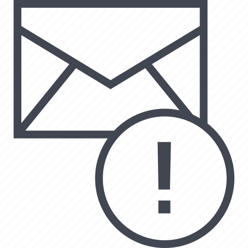 email, exclamation, message icon
