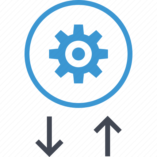 arrows, gear, options, setup icon