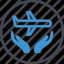 air, airplane, hands, plane