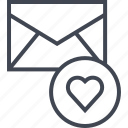 email, heart, message icon