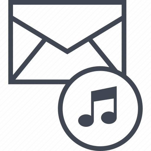 email, message, music icon