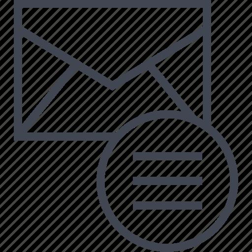 mailer, menu, message icon
