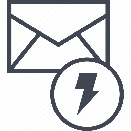 mailer, message, power icon