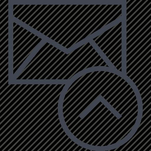 mailer, message, send icon
