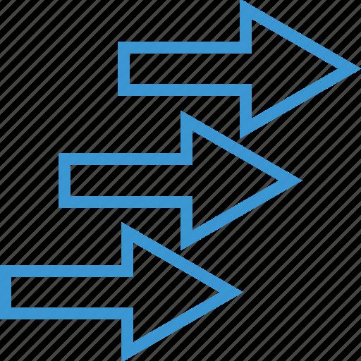 arrows, market, stock icon